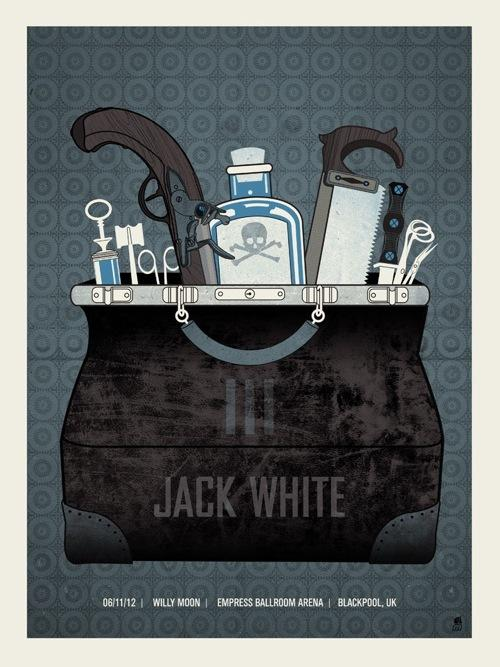 OMG Posters! » Archive » Exclusive: Tonight's Jack White Blackpool Poster by Methane Studios