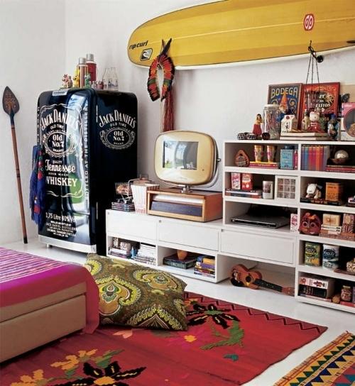 colorful, decor, eclectic, home, interior, libros - inspiring picture on Favim.com