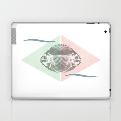 Siamese fishes Laptop & iPad Skin by pascal | Society6