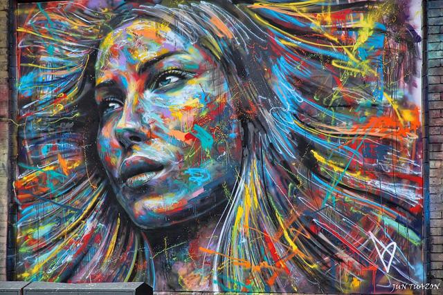 The Explosively Colorful Spray Paint Portraits of David Walker | Colossal
