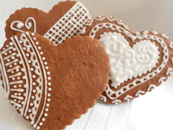 Decorative Chocolate Lace Cookies by bnurse on Etsy