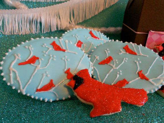 Winter Cardinals by bnurse on Etsy