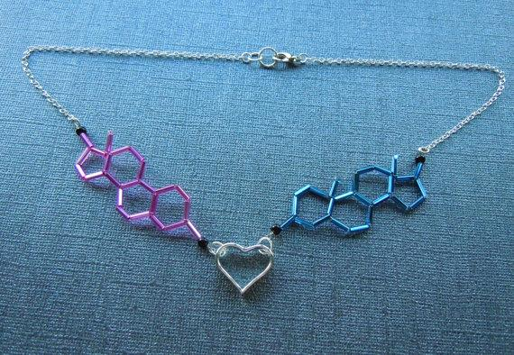 Biolojewelry Estrogen and Testosterone by BiolojewelryandSuch