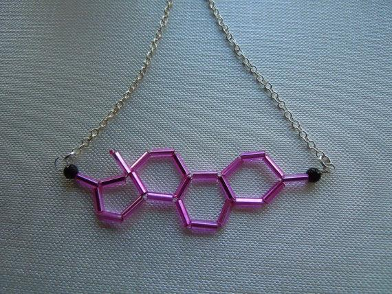 Biolojewelry Estrogen Necklace by BiolojewelryandSuch on Etsy