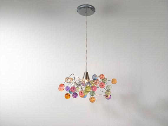 Ceiling light Pastel color bubbles by Flowersinlight on Etsy