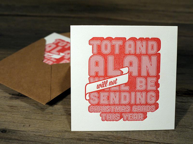 Letterpress Christmas Card | Flickr - Photo Sharing!