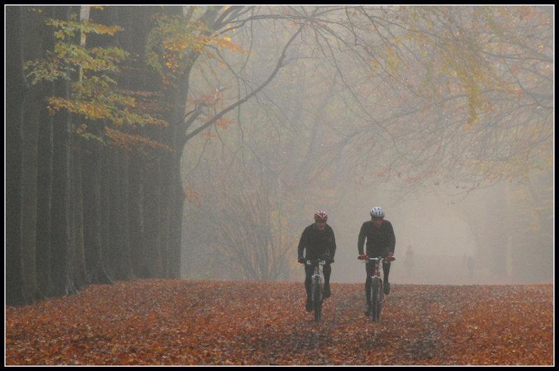 November mist bikers by ~Esperimenti