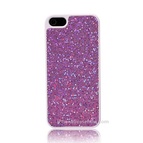 Glitter Case for iPhone 5 with Purple Hard Cover - iphone5casefans.com