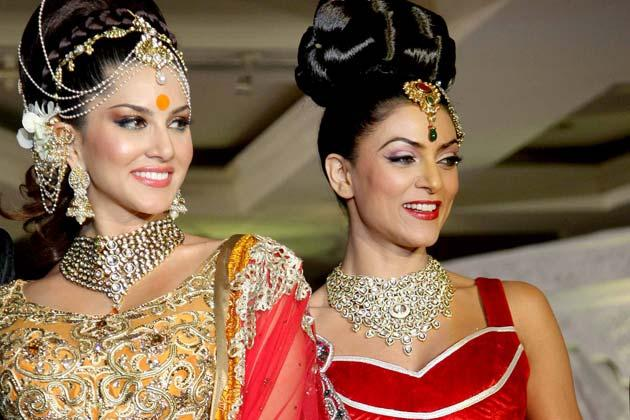 Sunny Leone, Sushmita Sen scorch the ramp in bridal wear: Movies News Photos-IBNLive