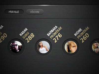 Music player UI by Filip Slováček