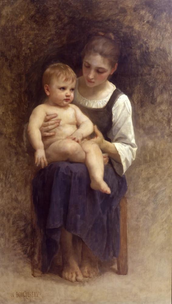 Bouguereau - unfinished painting