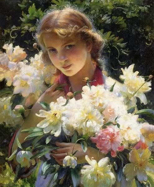 Charles Courtney Curran (1861-1942) - The Best Flower