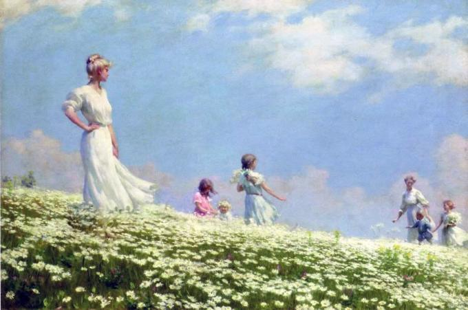 Charles Courtney Curran (1861-1942) - Summer