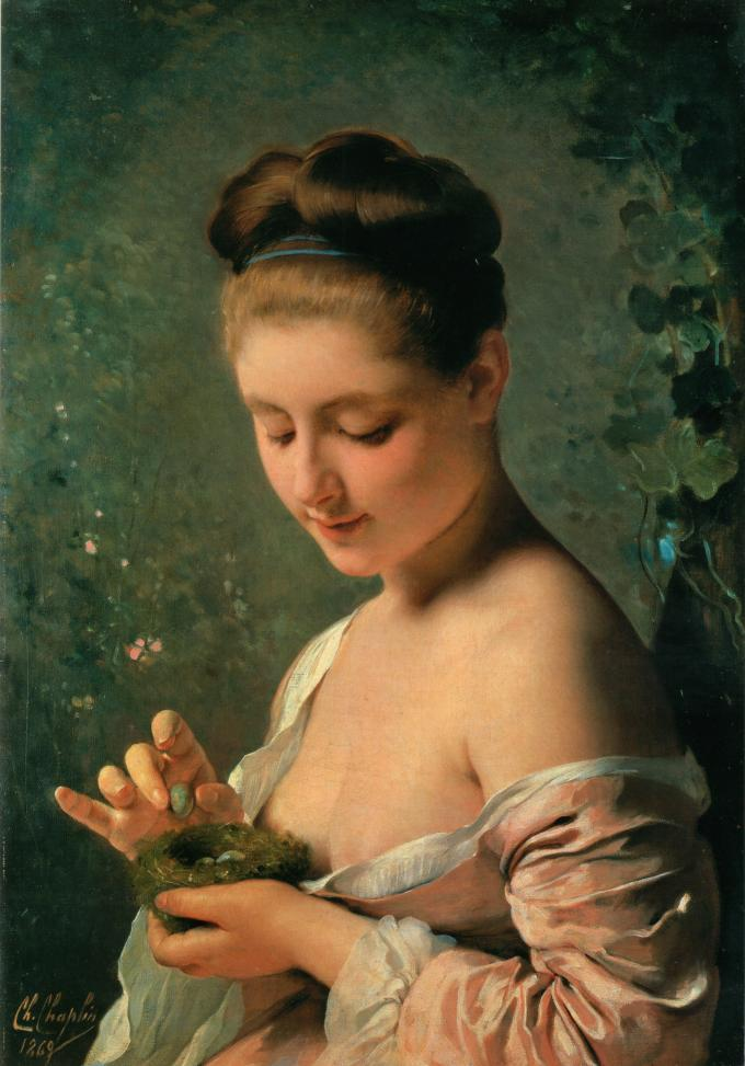 Charles J. Chaplin - Girl With a Nest (1869)