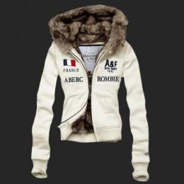 Hollister UK Sale,Abercrombie Womens Fur Hoody Coat 051