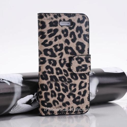 Leopard Leather Case for iPhone 5 Case with Wallet Design www.iphone5casefans.com