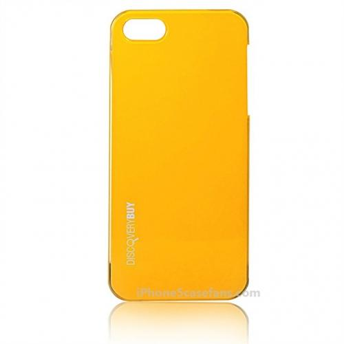 Discoverybuy Yellow Hard Case for iPhone 5 with Slim Cover - iPhone5casefans.com