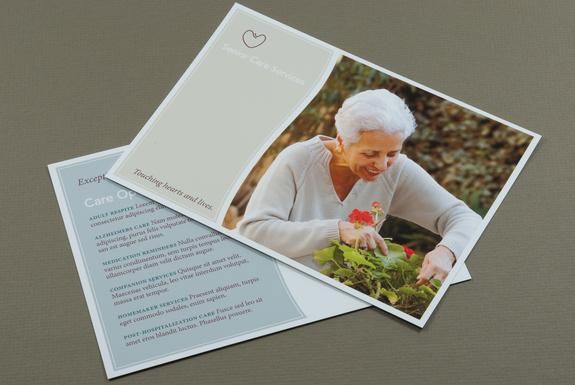 Senior Care Postcard Template Sample | Inkd