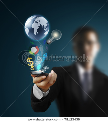 Touch Screen Mobile Phone Stock Photo 78123439 : Shutterstock