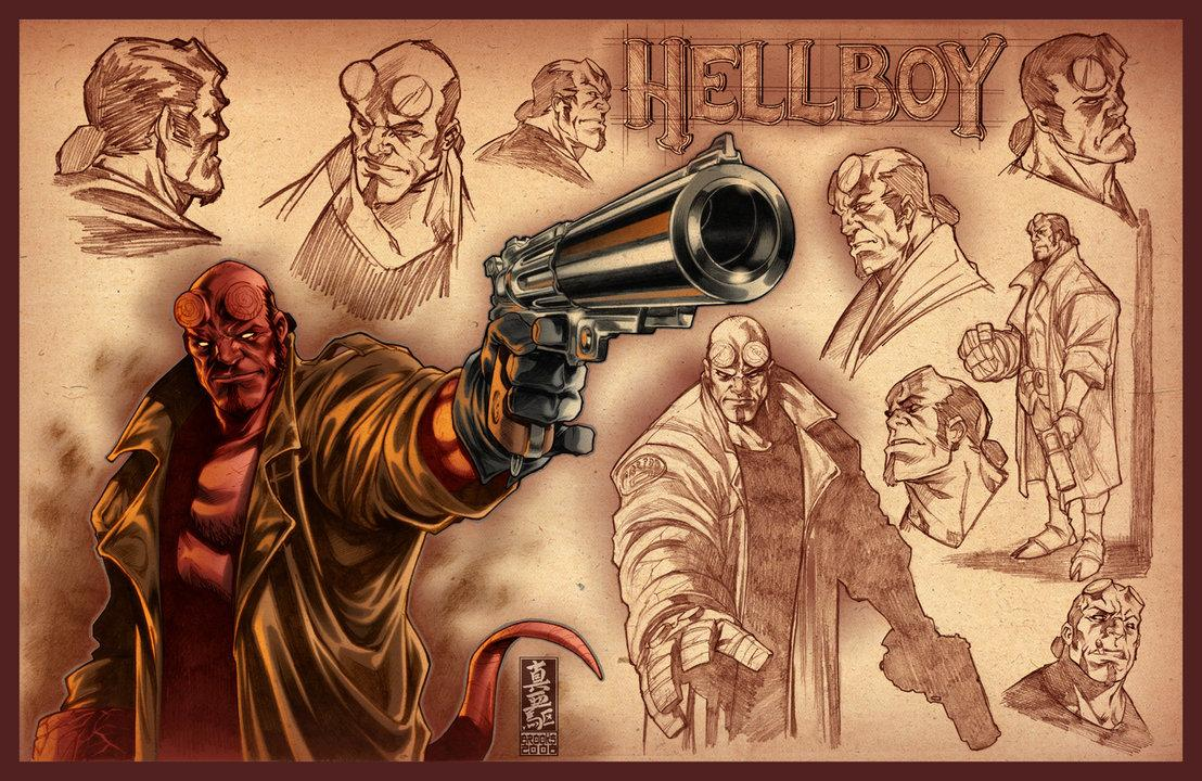 Hellboy sketches by `diablo2003