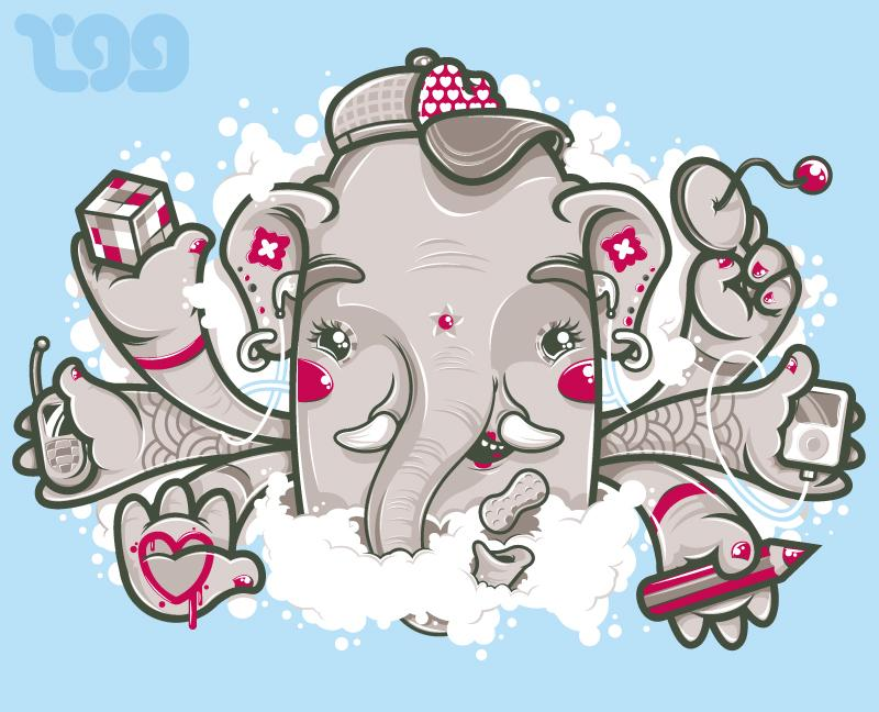 MultiTasking Ganesh by ~tokyo-go-go