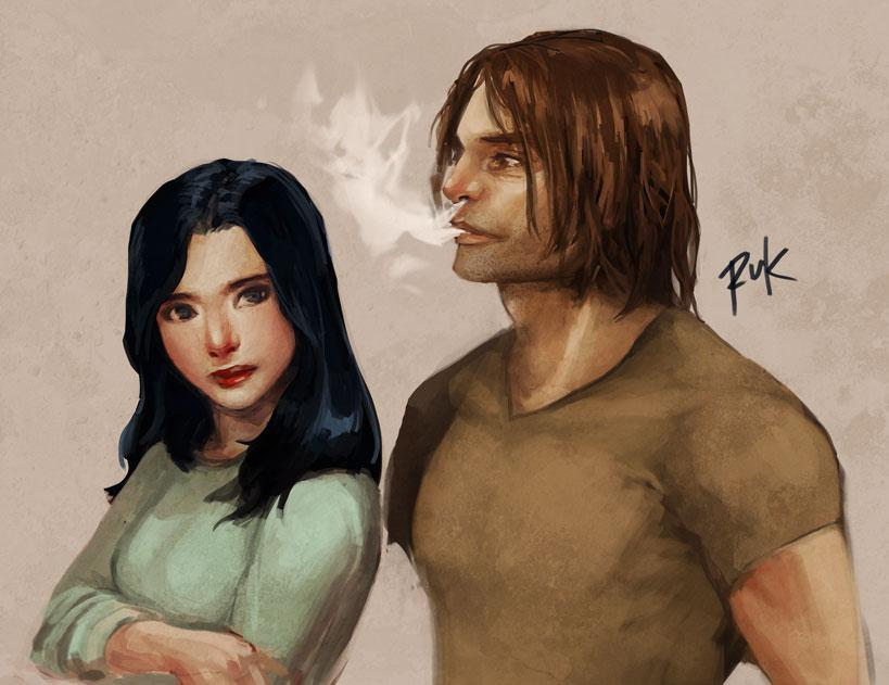 Snow and Bigby by ~rcmtrue