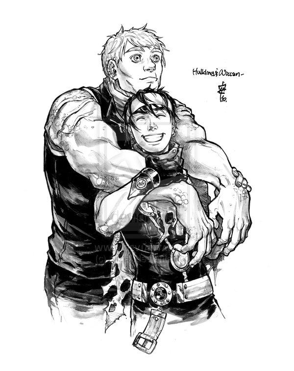 Hulkling Wiccan commish by ~Alizel