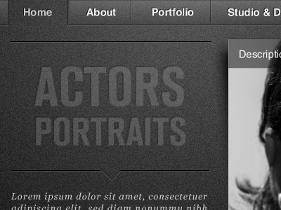 Actor's Portraits by Max Guedy