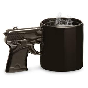 ThinkGeek :: The Gun Mug