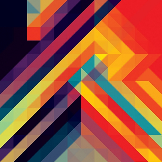 Designspiration — Andy Gilmore Bright Geometric Pattern