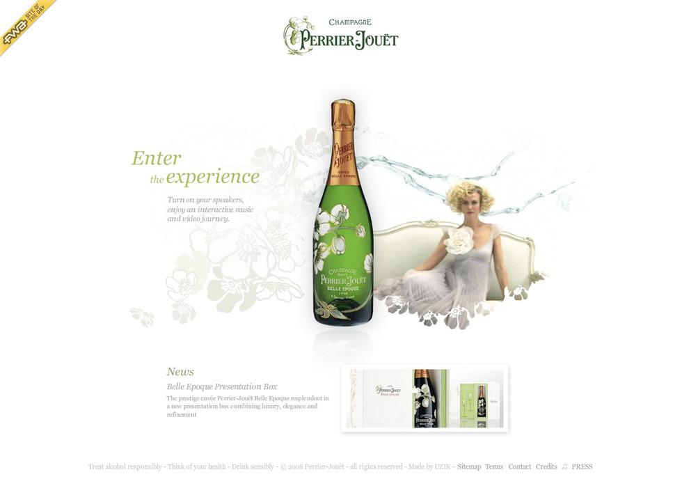 Digital Art Direction for Perrier Jouet via Uzik Freelance > Creasenso