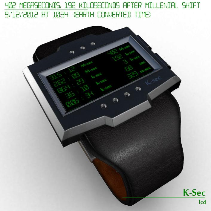 K sec LCD Travellers Watch
