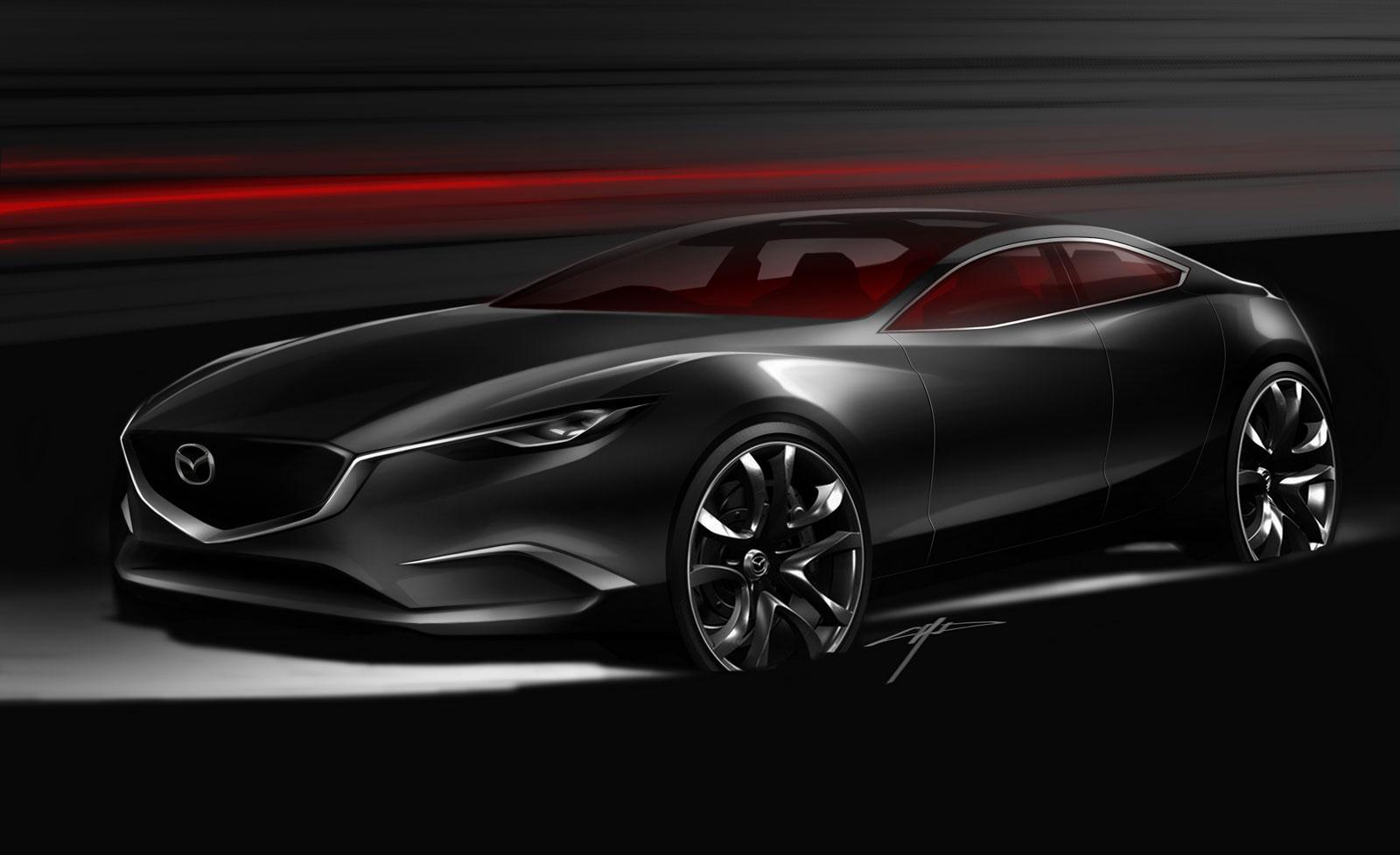 Mazda Takeri Concept Design Sketch - Car Body Design