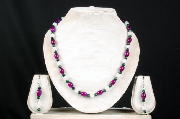 Magenta Green White Classic Combo Manthraa06 - Craftsia - Indian Handmade Products & Gifts