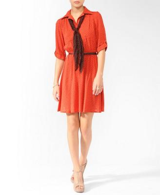 Zigzag Dress w/ Scarf   FOREVER21 - 2000018699