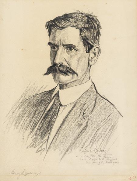 National Portrait Gallery, Canberra - Henry Lawson, c. 1919