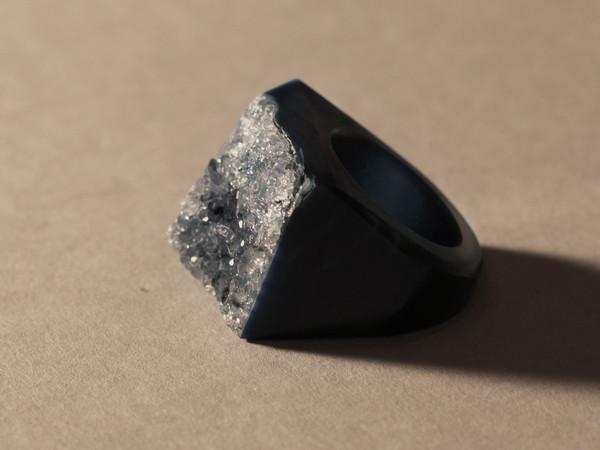 Blue Agate Drusy Ring | Lydali
