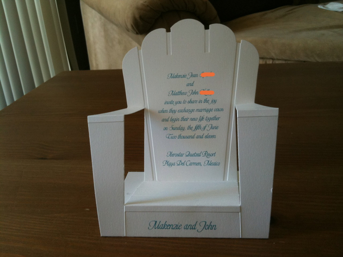 My Beach Chair Invites!!!