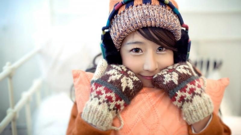 women,winter women winter gloves asians earmuffs 1920x1080