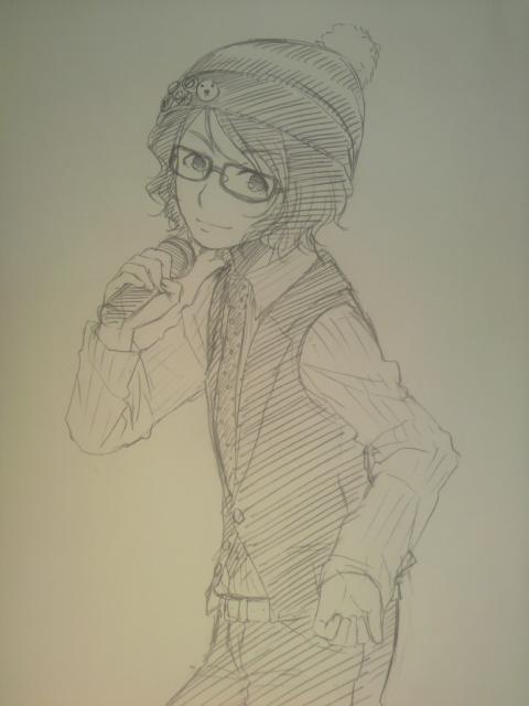 昨日のあっくんかわいすぎたので描いてみた on Twitpic