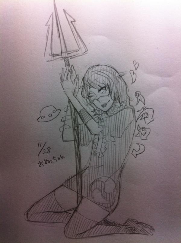 私は槍(?)になりたい on Twitpic