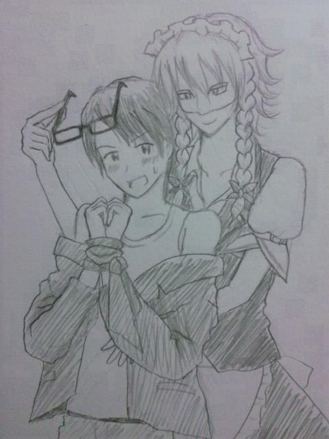 FN11秀三先生のスカーフは手首拘束できる長さなんじゃないかと考えたらこんなことに。どっかのBL小説の表紙にありそうな図で... on Twitpic
