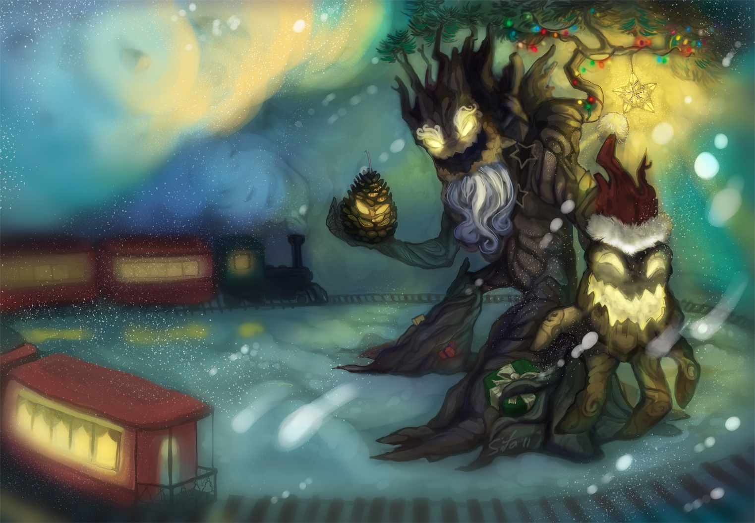 Christmas or Winter Maokai by ~Laments
