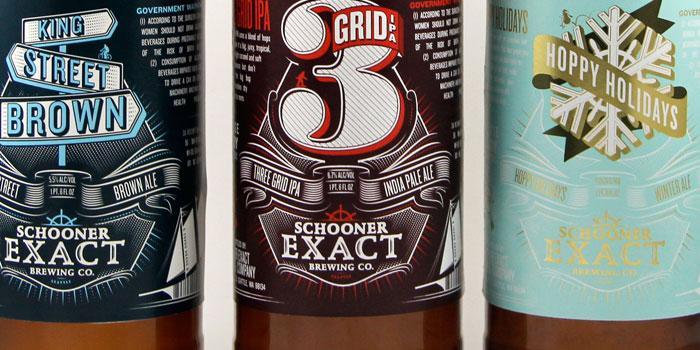 Schooner Exact BrewingCompany - The Dieline -