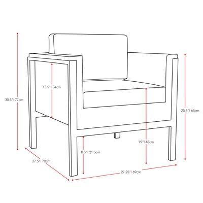 dCOR design Lakeside 4 Piece Patio Furniture Set | Wayfair