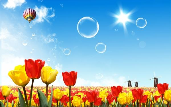 nature,fantasy fantasy nature bubbles tulips drawings 1920x1200 wallpaper – nature,fantasy fantasy nature bubbles tulips drawings 1920x1200 wallpaper – Drawings Wallpaper – Desktop Wallpaper