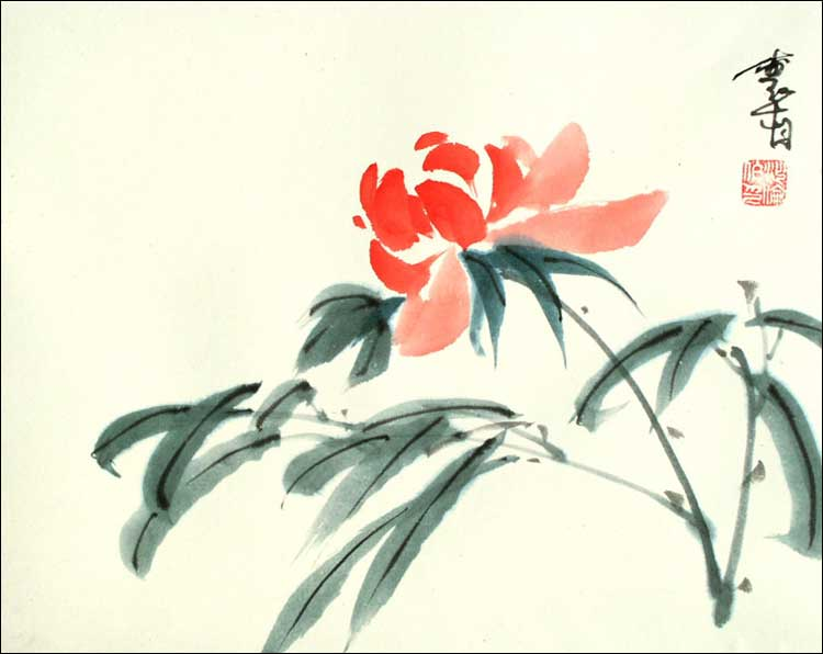 Chinese Calligraphy Flower Volvoab