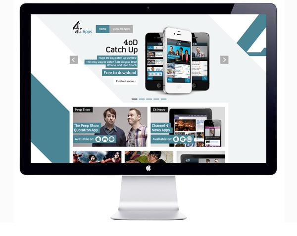 Channel 4 Apps Microsite on Web Design Served