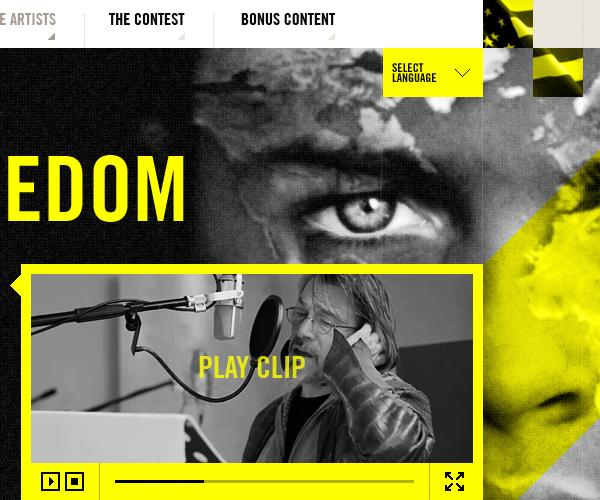 Creative Construction - Toast To Freedom on Web Design Served