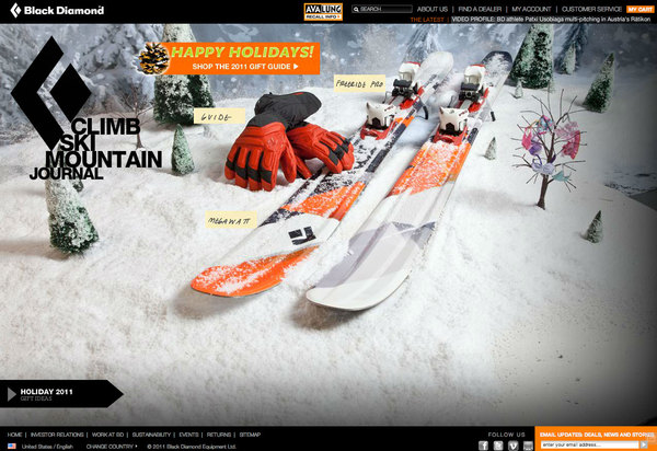 Black Diamond Equipment Holiday 2011 Campaign
